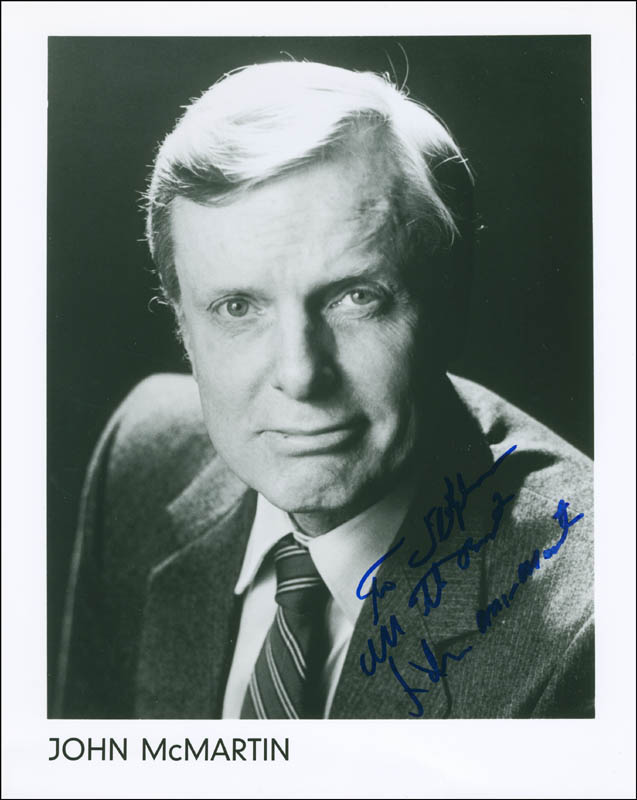 Image 1 for John Mcmartin - Autographed Inscribed Photograph - HFSID 305224