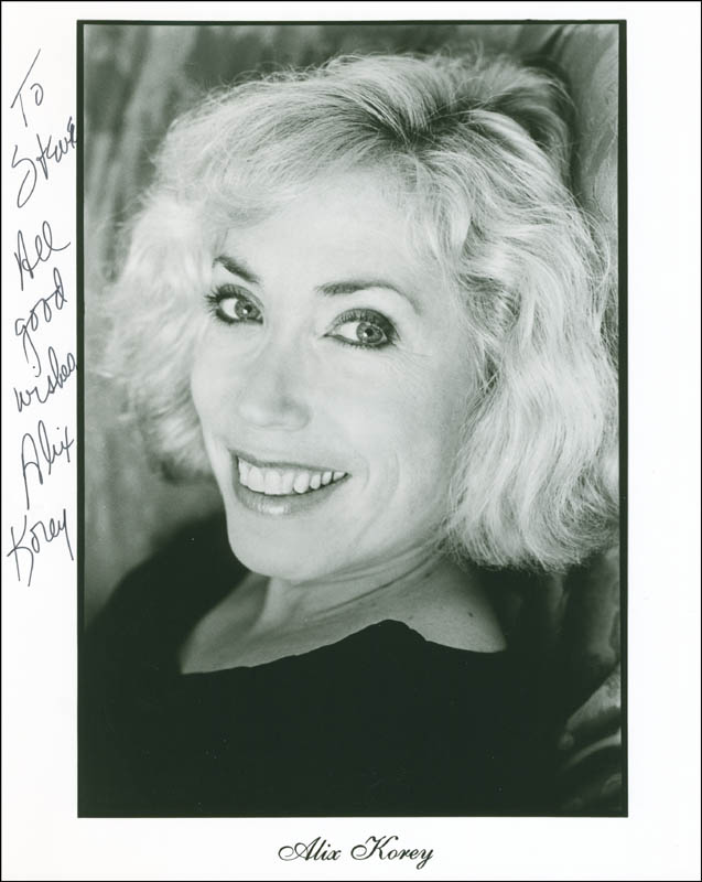Image 1 for Alix Korey - Autographed Inscribed Photograph - HFSID 305243