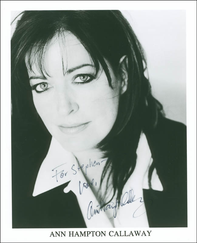 Image 1 for Ann Hampton Callaway - Autographed Inscribed Photograph - HFSID 305266