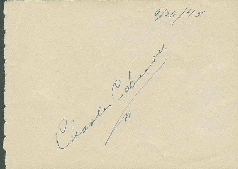 Image 1 for Charles D. Coburn - Autograph Circa 1945 co-signed by: Lana Turner - HFSID 305425