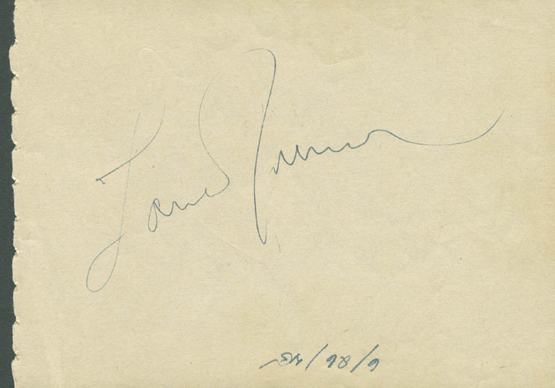 Image 3 for Charles D. Coburn - Autograph Circa 1945 co-signed by: Lana Turner - HFSID 305425