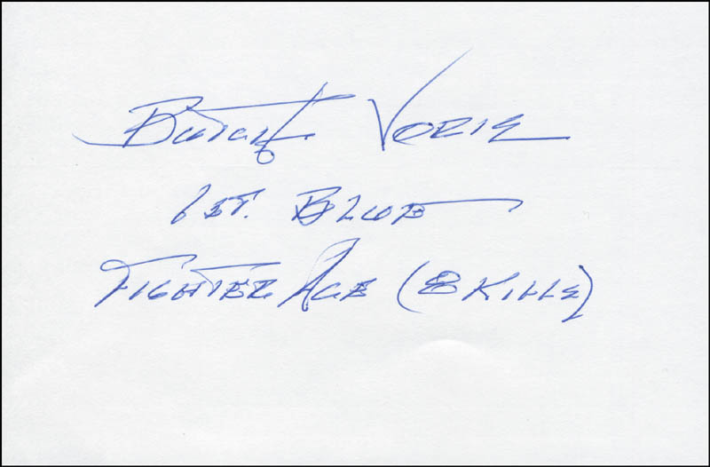 Image 1 for Captain Roy 'Butch' Voris - Autograph - HFSID 305670