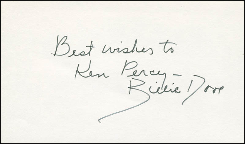 Image 1 for Billie Dove - Autograph Note Signed - HFSID 305889