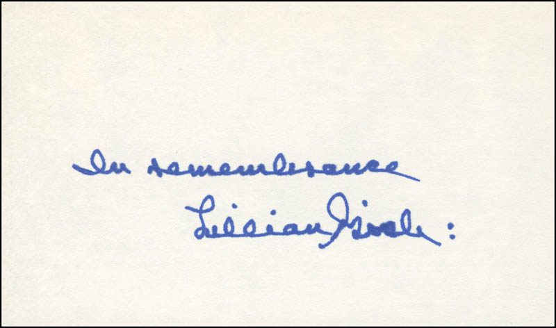 Image 1 for Lillian Gish - Autograph Sentiment Signed - HFSID 305892