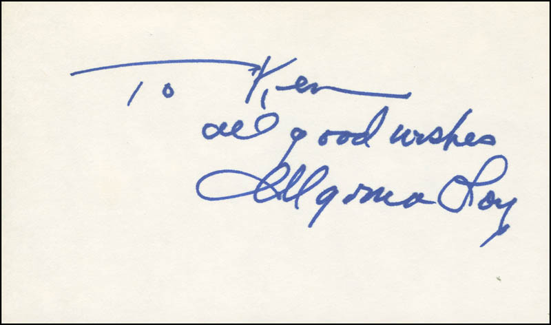 Image 1 for Myrna Loy - Autograph Note Signed - HFSID 305894