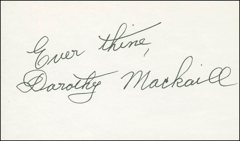 Image 1 for Dorothy Mackaill - Autograph Sentiment Signed - HFSID 305895