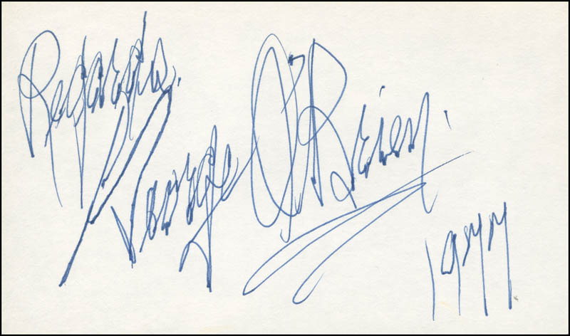 Image 1 for George O'Brien - Autograph Sentiment Signed 1977 - HFSID 305897