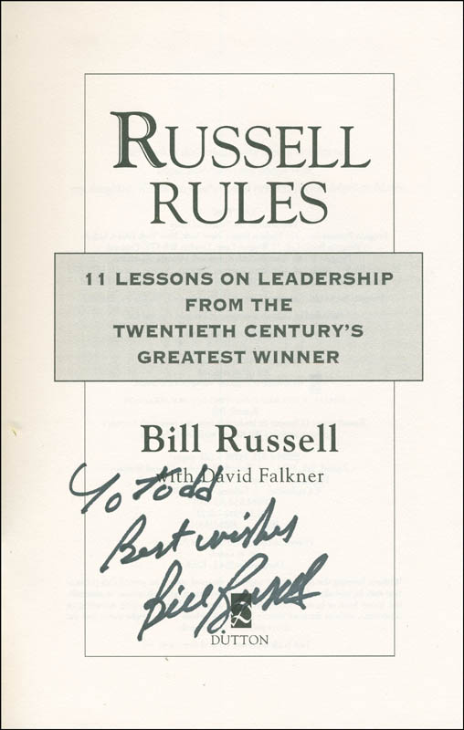 Image 1 for Bill Russell - Inscribed Book Signed - HFSID 306022