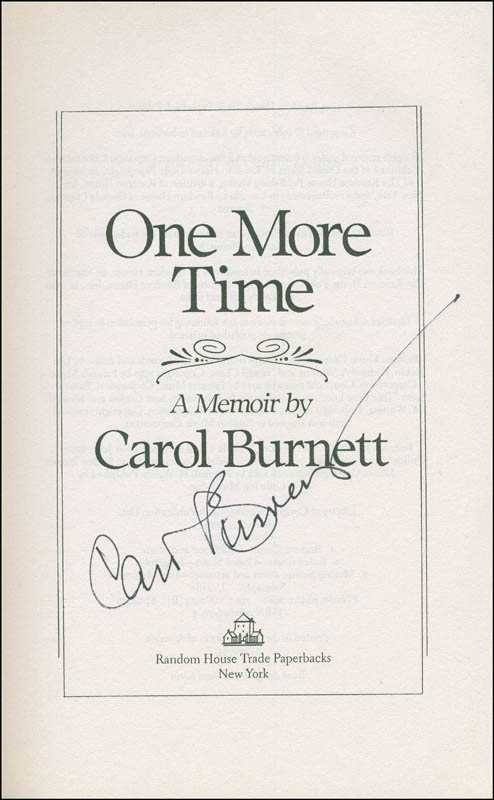 Image 1 for Carol Burnett - Book Signed - HFSID 306024