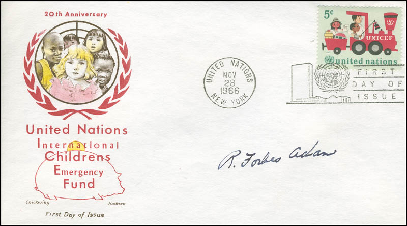 Image 1 for General Ronald Forbes Adam - First Day Cover Signed - HFSID 306263