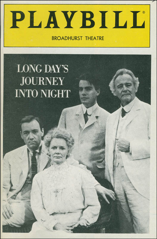 Image 3 for Long Day'S Journey Into Night Play Cast - Show Bill Signed co-signed by: Jack Lemmon, Kevin Spacey, Peter Gallagher, Bethel Leslie - HFSID 306581