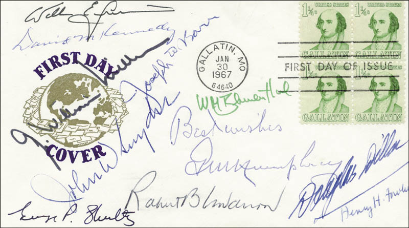 Image 1 for C. Douglas Dillon - First Day Cover Signed with co-signers - HFSID 30660