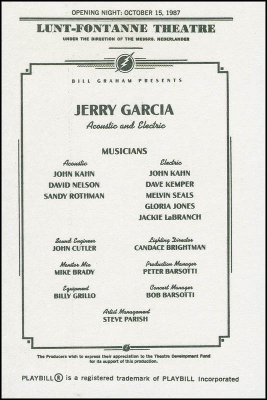 Image 3 for The Grateful Dead (Jerry Garcia) - Trading/Sports Card Unsigned - HFSID 306721