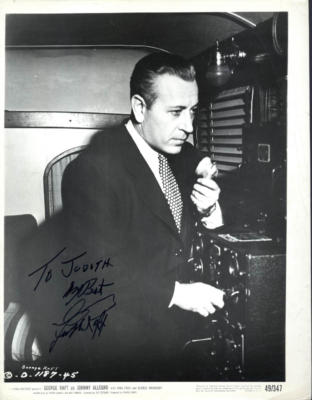 Image 1 for George Raft - Autographed Inscribed Photograph - HFSID 30741