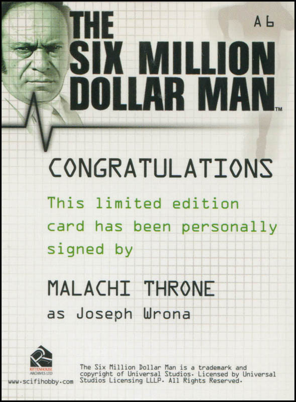 Image 3 for Malachi Throne - Trading/Sports Card Signed - HFSID 308065