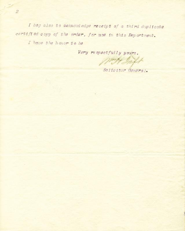 Image 3 for President William H. Taft - Typed Letter Signed 02/06/1891 - HFSID 30815