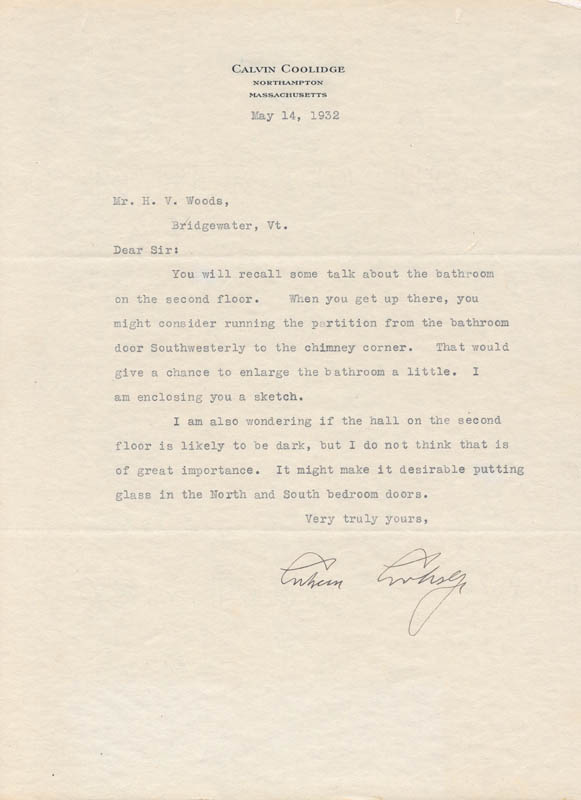 Image 1 for President Calvin Coolidge - Typed Letter Signed 05/14/1932 - HFSID 30822
