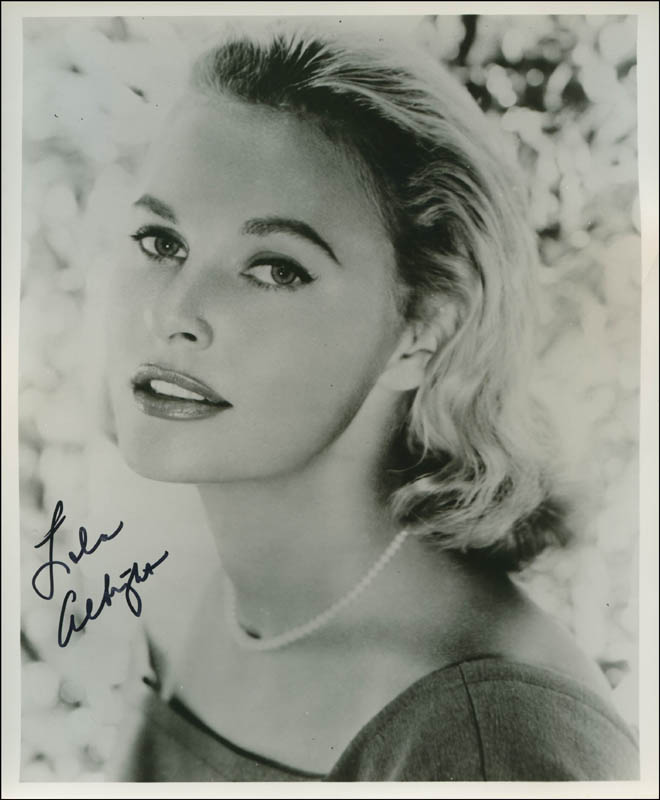 Download this Lola Albright Photograph Signed Document picture