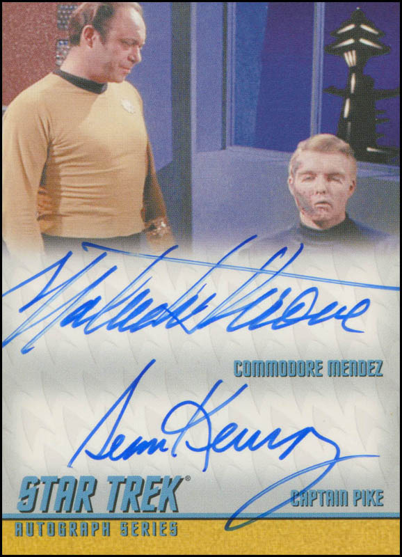 Image 1 for Star Trek TV Cast - Trading/Sports Card Signed co-signed by: Malachi Throne, Sean Kenney - HFSID 308630