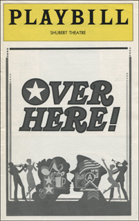 Image 3 for Over Here! Play Cast - Show Bill Signed co-signed by: Maxene Andrews, Robert B. Sherman, Janie Sell, Bette Henritze - HFSID 309028
