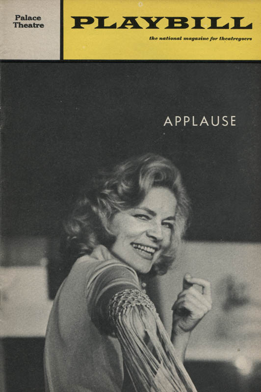 Image 3 for Applause Play Cast - Show Bill Signed co-signed by: Len Cariou, Adolph Green, Penny Fuller, Lee Roy Reams - HFSID 309110