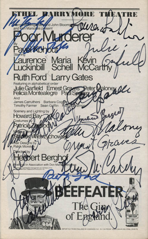 Image 1 for Poor Murderer Play Cast - Show Bill Signed with co-signers - HFSID 309153