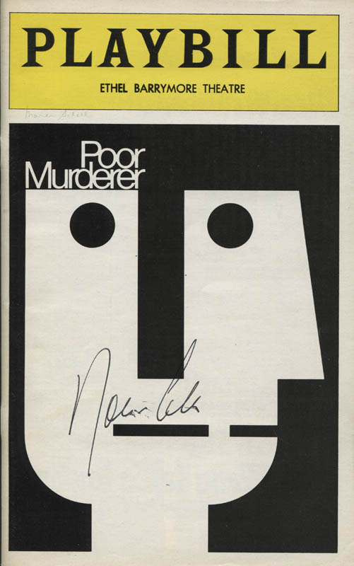 Image 3 for Poor Murderer Play Cast - Show Bill Signed with co-signers - HFSID 309153