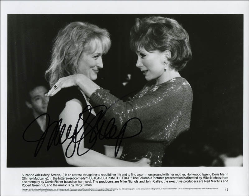 Image 1 for Meryl Streep - Printed Photograph Signed In Ink - HFSID 309198