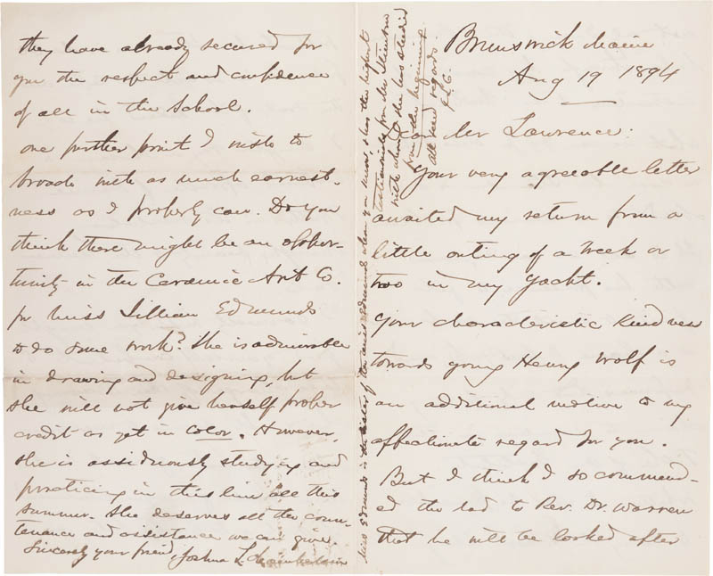 Image 1 for Major General Joshua Lawrence Chamberlain - Autograph Letter Double Signed 08/19/1894 - HFSID 309245
