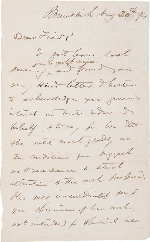 Image 1 for Major General Joshua Lawrence Chamberlain - Autograph Letter Signed 08/30/1896 - HFSID 309248