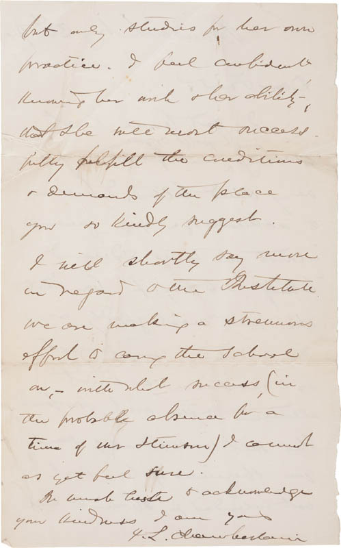 Image 3 for Major General Joshua Lawrence Chamberlain - Autograph Letter Signed 08/30/1896 - HFSID 309248
