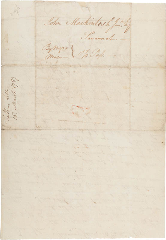 Image 3 for Brigadier General Lachlan Mcintosh - Autograph Letter Signed 03/16/1787 - HFSID 309261