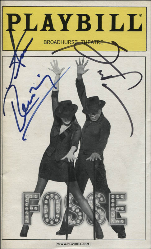 Image 1 for Fosse Play Cast - Show Bill Signed co-signed by: Ben Vereen, Ann Reinking - HFSID 309472