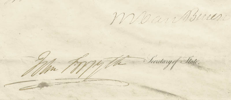 Image 3 for President Martin Van Buren - Diplomatic Appointment Signed 12/20/1840 co-signed by: John Forsyth - HFSID 30960