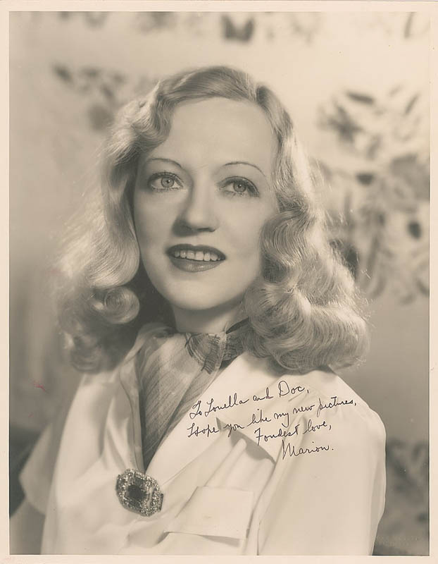 Image 1 for Marion Davies - Autographed Inscribed Photograph - HFSID 309652
