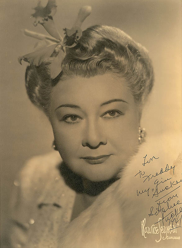 Image 1 for Sophie Tucker - Autographed Inscribed Photograph 1941 - HFSID 309681