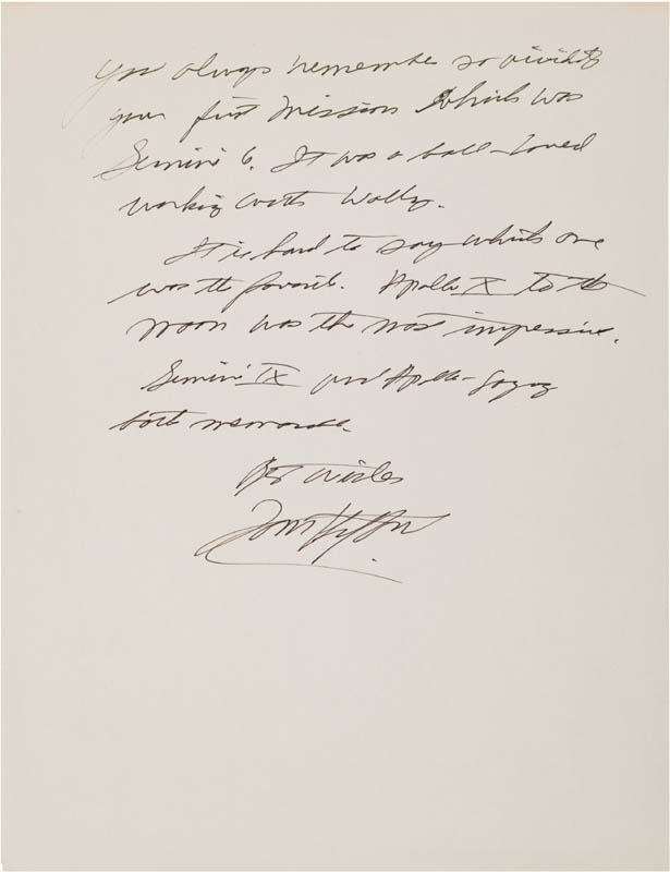 Image 1 for Lt. General Thomas P. Stafford - Autograph Manuscript Signed - HFSID 309697