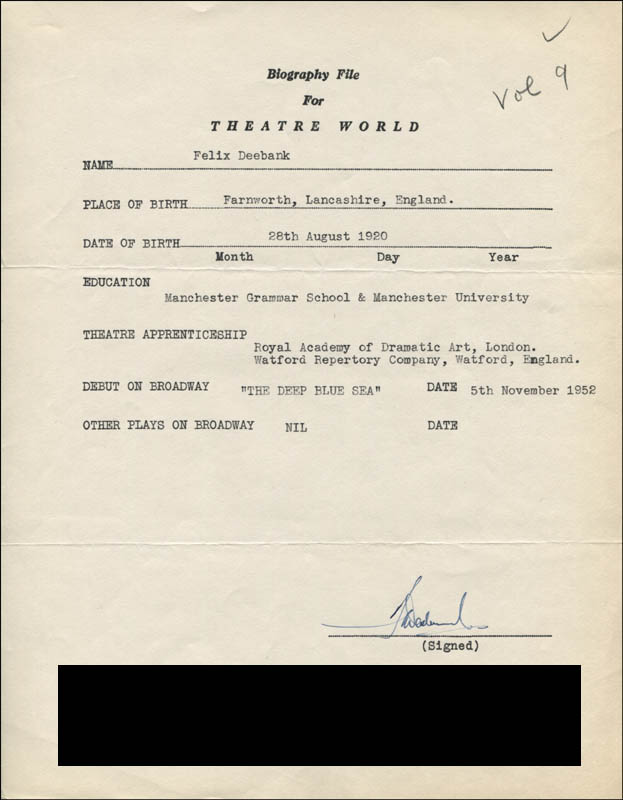 Image 1 for Felix Deebank - Typed Resume Signed - HFSID 310232