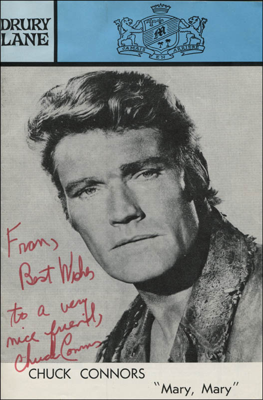 Image 1 for Chuck Connors - Inscribed Show Bill Signed - HFSID 310333