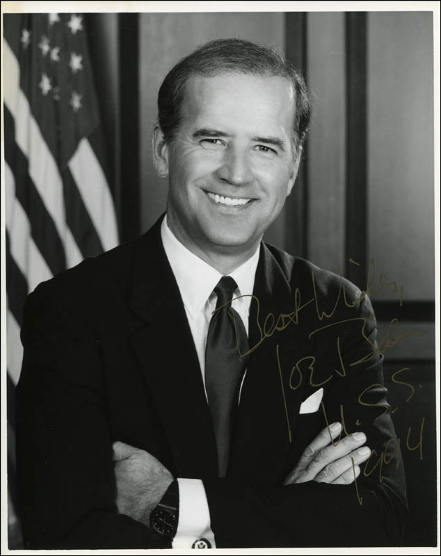 Image 1 for Vice President Joseph R. Biden - Autographed Signed Photograph 1994 - HFSID 310335