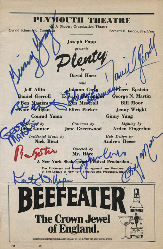 Image 1 for Plenty Play Cast - Show Bill Signed with co-signers - HFSID 310363
