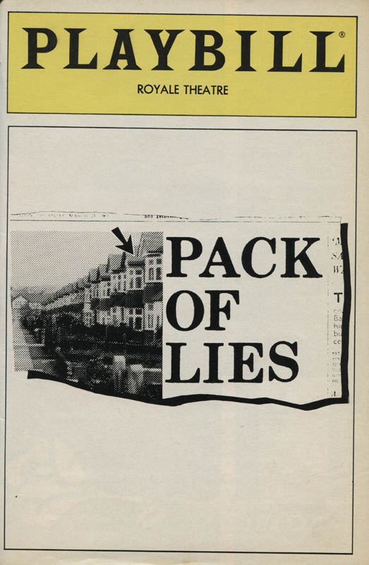 Image 3 for Pack Of Lies Play Cast - Show Bill Signed co-signed by: Rosemary Harris, Kaiulani Lee, Dana IVey, June Ballinger, Colin Fox - HFSID 310394