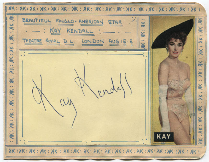 Image 1 for Kay Kendall - Autograph Circa 1958 - HFSID 310664