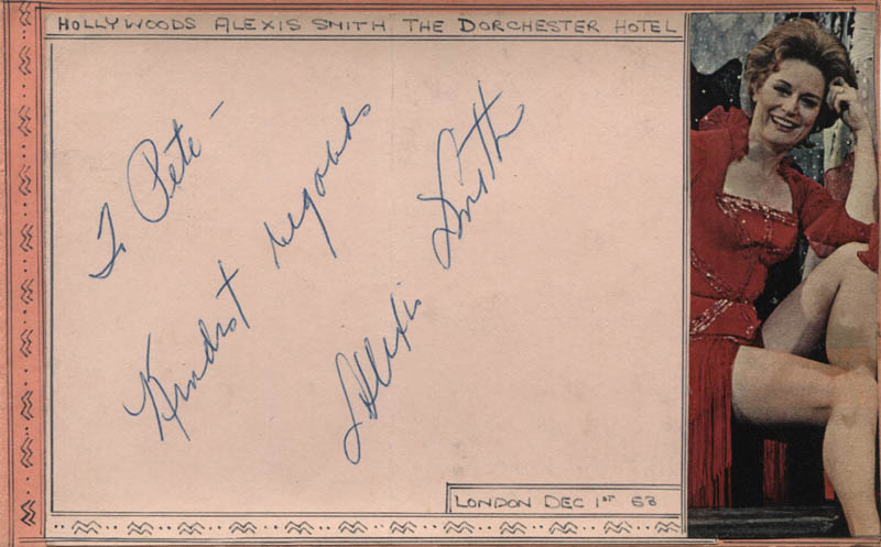Image 1 for Alexis Smith - Autograph Note Signed Circa 1958 - HFSID 310674