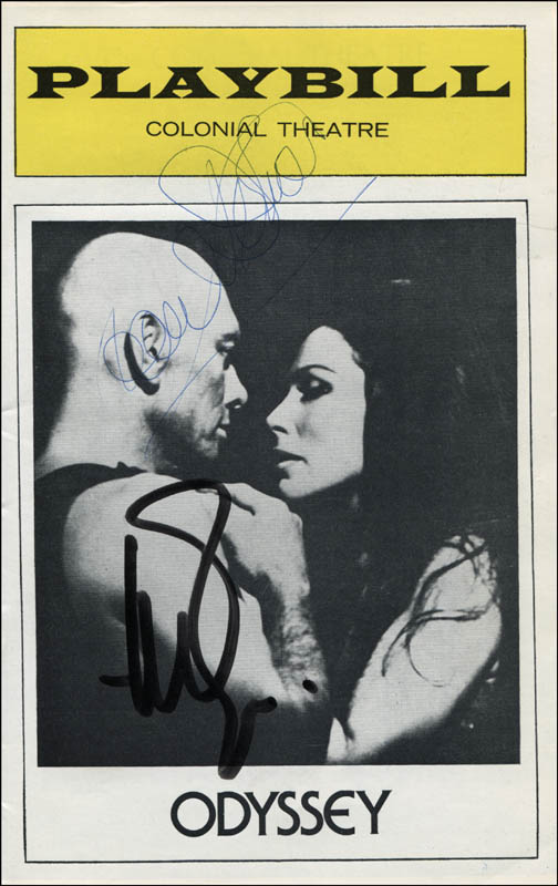 Image 1 for Odyssey Play Cast - Show Bill Signed co-signed by: Yul Brynner, Joan Diener - HFSID 310687