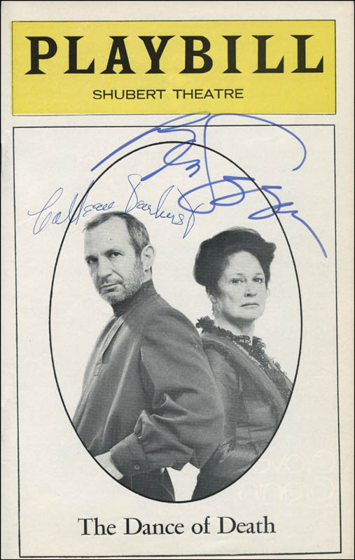 Image 1 for The Dance Of Death Play Cast - Show Bill Signed co-signed by: Colleen Dewhurst, Ben Gazzara - HFSID 310690