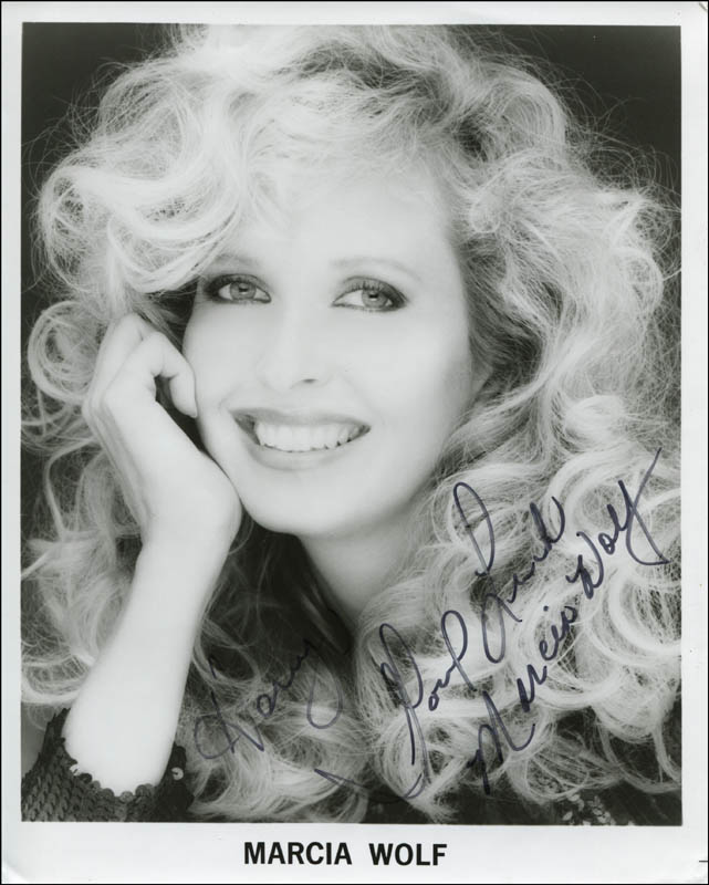 Image 1 for Marcia Wolf - Autographed Inscribed Photograph - HFSID 310726