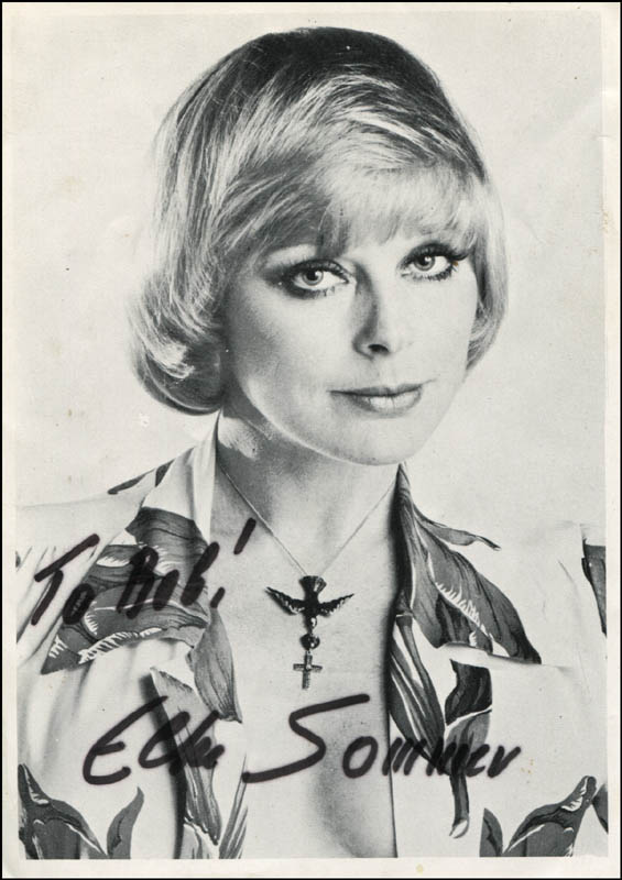 Elke Sommer A Shot In The Dark Signed Autograph And Headshot Photo Set