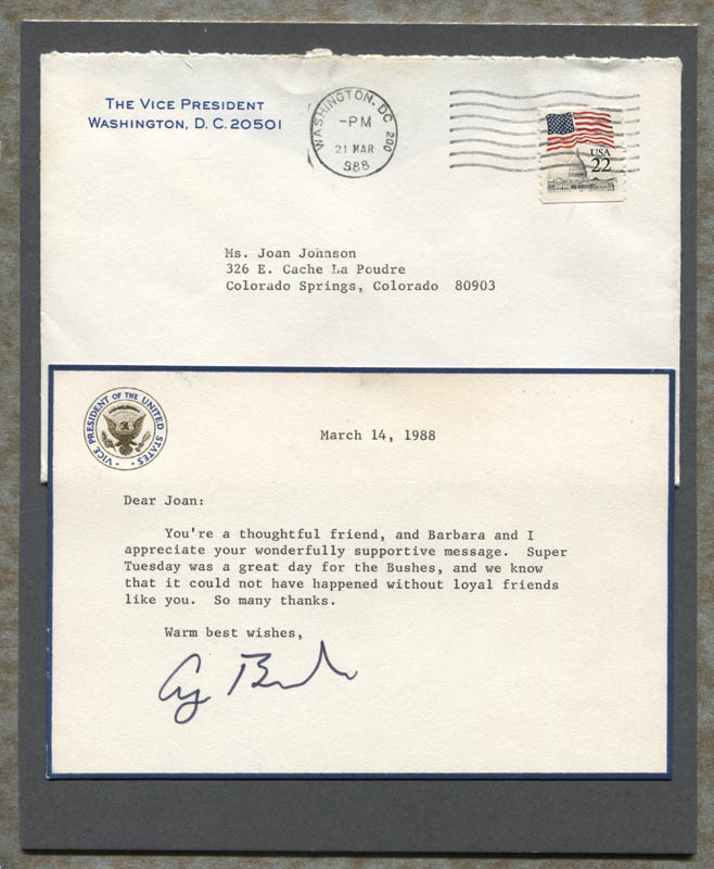 Image 1 for President George H.W. Bush - Typed Letter Signed Circa 1988 - HFSID 310828