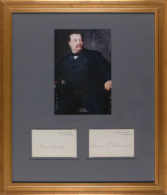 Image 1 for President Grover Cleveland - Collection with First Lady Frances F. Cleveland - HFSID 310839